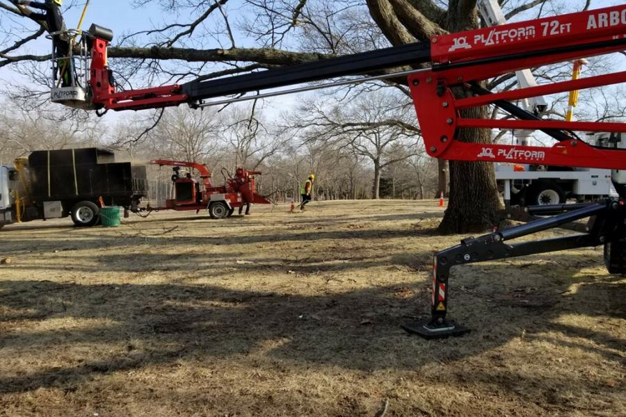 T.F. Morra Tree Care Spider Lift